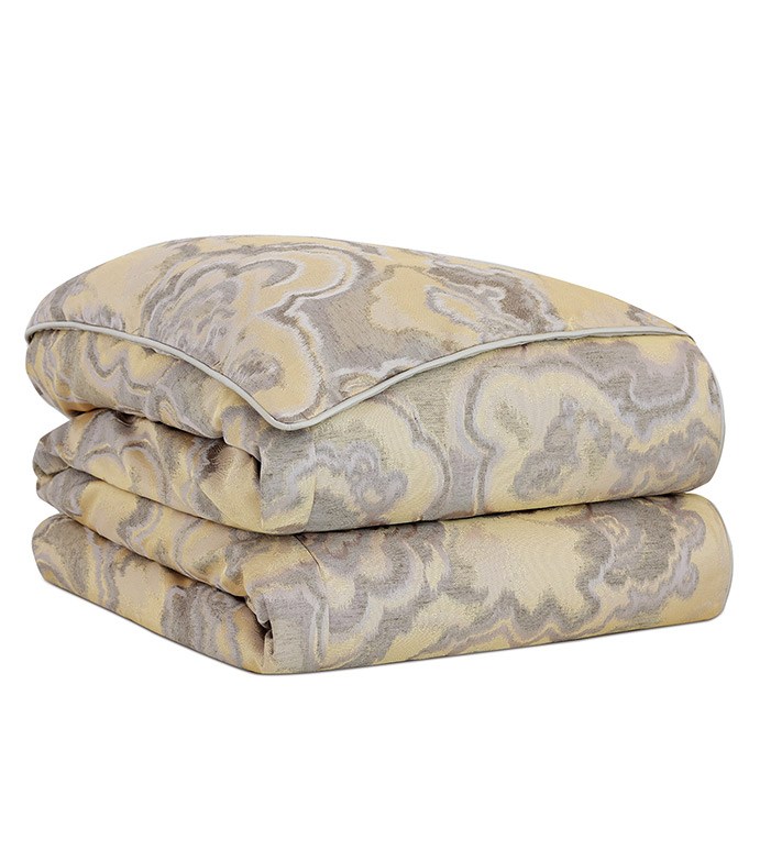 Amal Duvet Cover - SILVER,TAUPE,GREY,PATTERN,DESIGN,GLAM,MODERN,TRIM,ACCENT,METALLIC,BEDROOM,BED,LUXURY BEDDING,INTERIOR DESIGN,JEWEL,MODERN,GOLD,WOVEN,BUTTON,DECORATIVE,ABSTRACT,COVER,BLANKET,