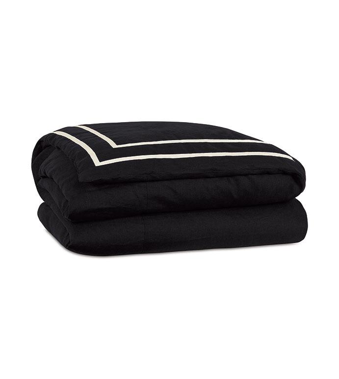 Resort Black Fret Duvet Cover - ,