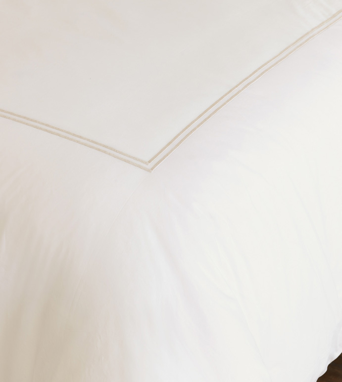 Enzo Ivory/Bisque Duvet Cover - ,