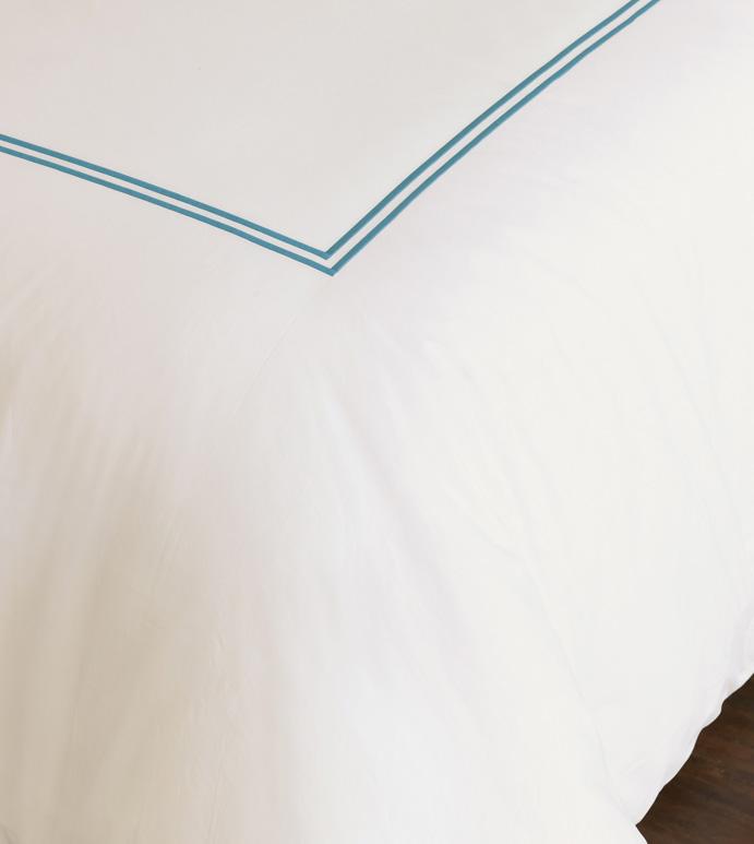 Enzo Ivory/Ocean Duvet Cover - ,
