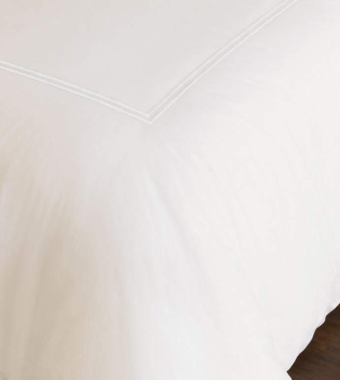 Enzo Ivory/White Duvet Cover - ,
