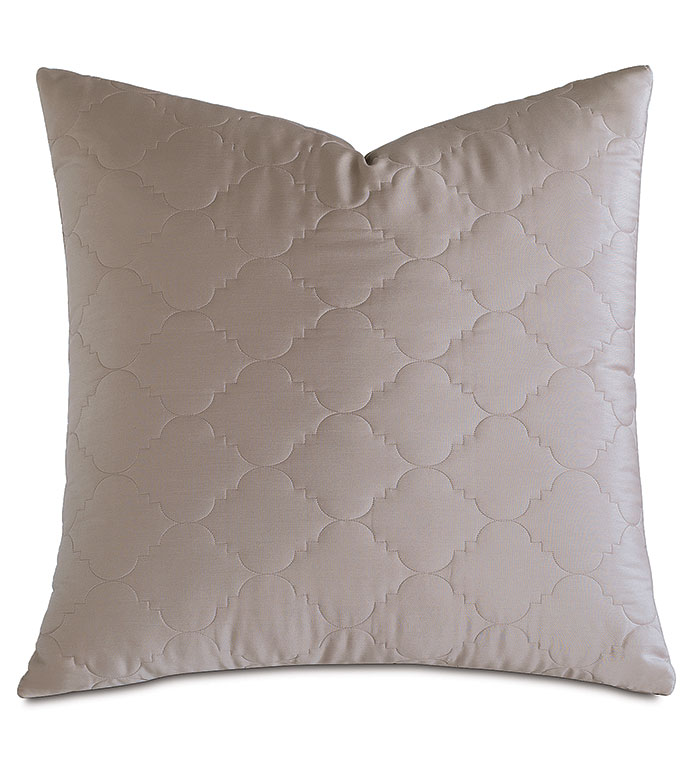 Viola Quilted Euro Sham in Fawn - ,QUILTED EURO SHAM,COTTON SATEEN EURO SHAM,COTTON QUILTED EURO SHAM,WASHABLE SATEEN EURO SHAM,WASHABLE EURO SHAM,WASHABLE CREAM EURO SHAM,WASHABLE QUILTED BEDDING,