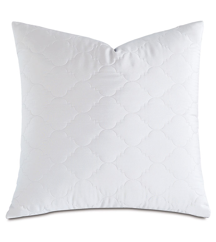 Viola Quilted Euro Sham in White - ,QUILTED EURO SHAM,COTTON SATEEN EURO SHAM,COTTON QUILTED EURO SHAM,WASHABLE SATEEN EURO SHAM,WASHABLE EURO SHAM,WASHABLE CREAM EURO SHAM,WASHABLE QUILTED BEDDING,