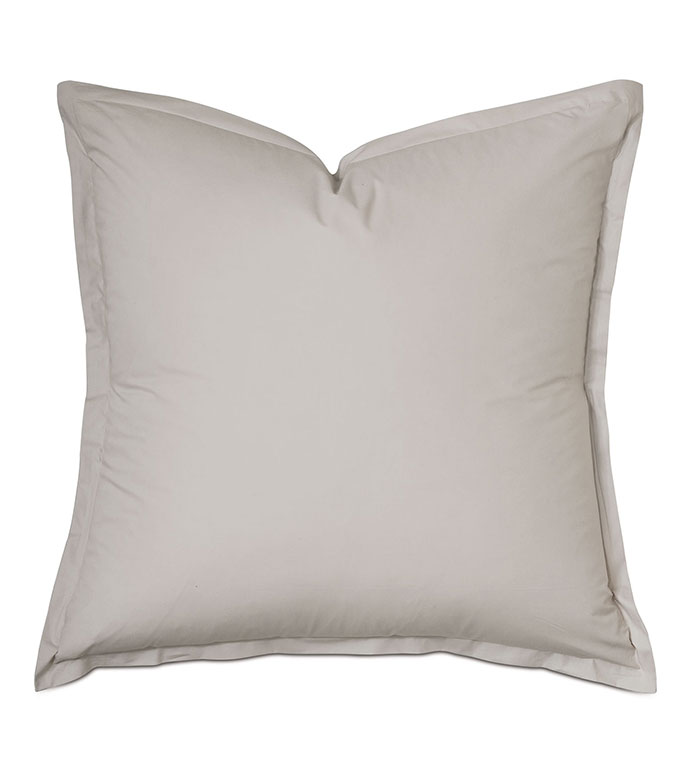 Vail Percale Euro Sham In Bisque - FLANGE,PERCALE,100% COTTON,EGYPTIAN COTTON,PERCALE COTTON,LUXURY,HIGH-END,HIGH-QUALITY,27X27,THROW PILLOW,ACCENT PILLOW,CREAM,NEUTRAL,BEIGE