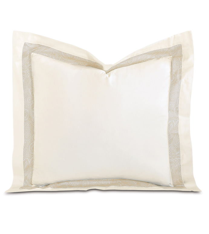 Cornice Ivory/Pearl Euro Sham - ,
