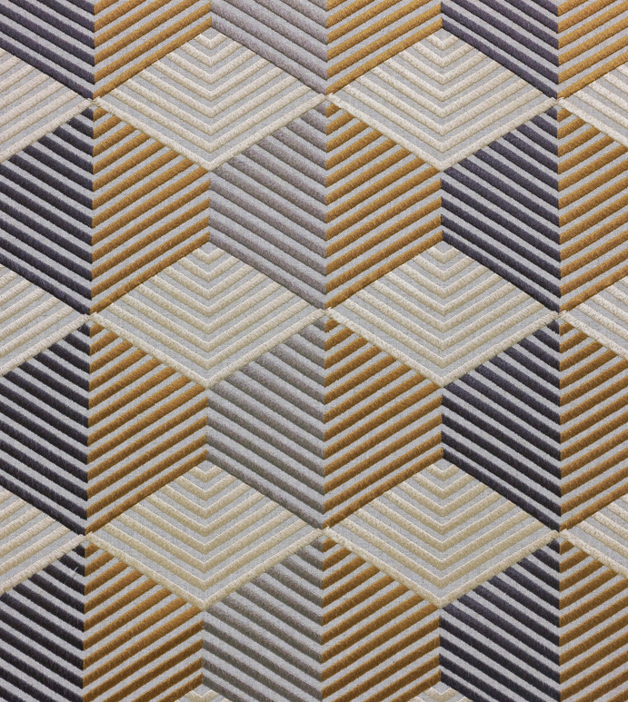 Etude Mustard - ,geometric embroidery,embroidered fabric,metallic embroidery,metallic fabric,geometric fabric,fabric yardage,upholstery,embroidered yardage,midcentury fabric,
