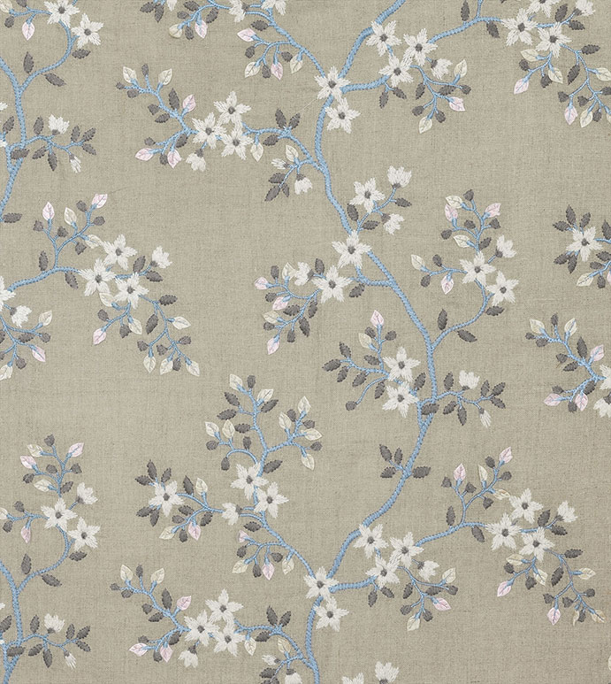 Amberlynn - ,FLORAL FABRIC,FLORAL EMBROIDERY,ROMANTIC EMBROIDERY,LINEN FABRIC,EMBROIDERY ON LINEN,FLORAL LINEN,NEUTRAL LINEN,FABRIC YARDAGE,VELVET EMBROIDERY,FLORAL PATTERN,FLORAL TEXTILES,