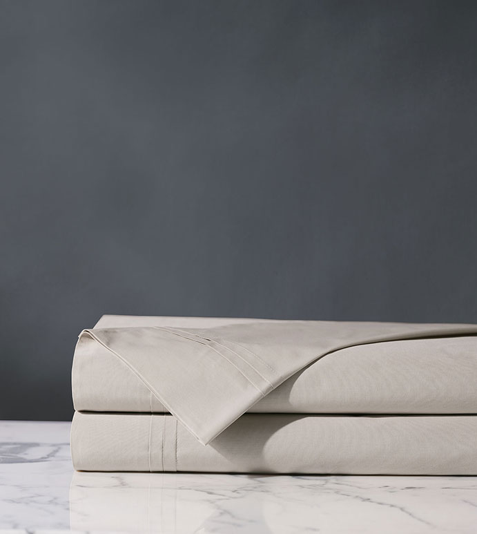 Vail Percale Flat Sheet In Bisque - ,PERCALE FLAT SHEET,LUXURY FLAT SHEET,GRAY FLAT SHEET,COTTON PERCALE FLAT SHEET,PERCALE SHEETS,PERCALE FINE LINENS,CUSTOM FLAT SHEET,