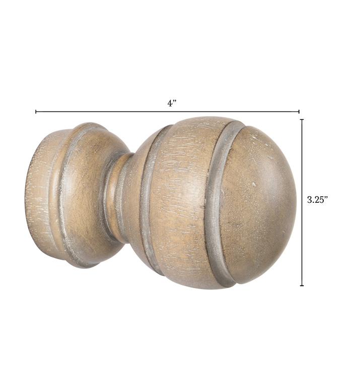 Legna Driftwood Sphere Finial Pair