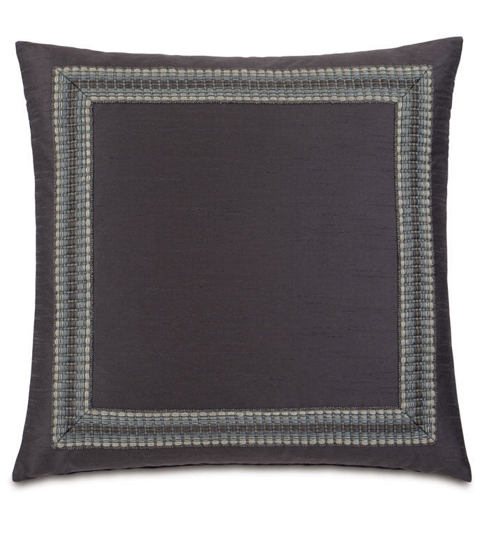 Edris Charcoal With Mitered Border - ,