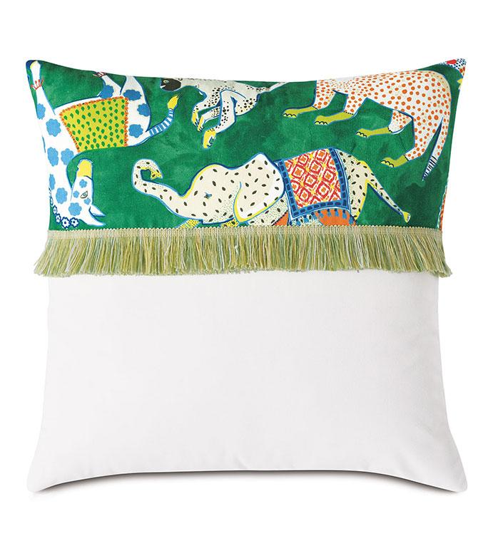 Hullabaloo Brush Fringe Decorative Pillow