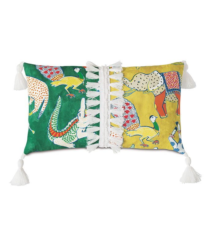 Hullabaloo Tassel Trim Decorative Pillow