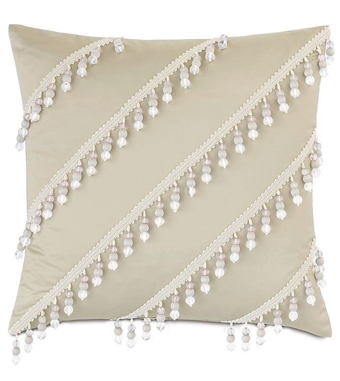 Jolene Beaded Decorative Pillow