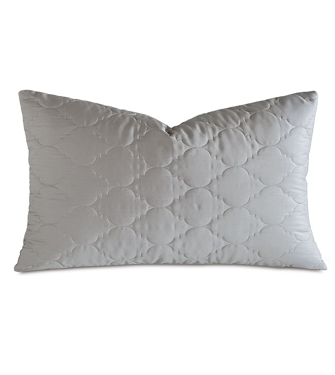 Viola Quilted King Sham in Dove - ,QUILTED KING SHAM,COTTON SATEEN KING SHAM,COTTON QUILTED KING SHAM,WASHABLE SATEEN KING SHAM,WASHABLE KING SHAM,WASHABLE CREAM KING SHAM,WASHABLE QUILTED BEDDING,