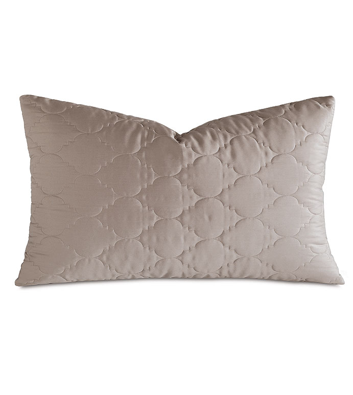 Viola Quilted King Sham in Fawn - ,QUILTED KING SHAM,COTTON SATEEN KING SHAM,COTTON QUILTED KING SHAM,WASHABLE SATEEN KING SHAM,WASHABLE KING SHAM,WASHABLE CREAM KING SHAM,WASHABLE QUILTED BEDDING,