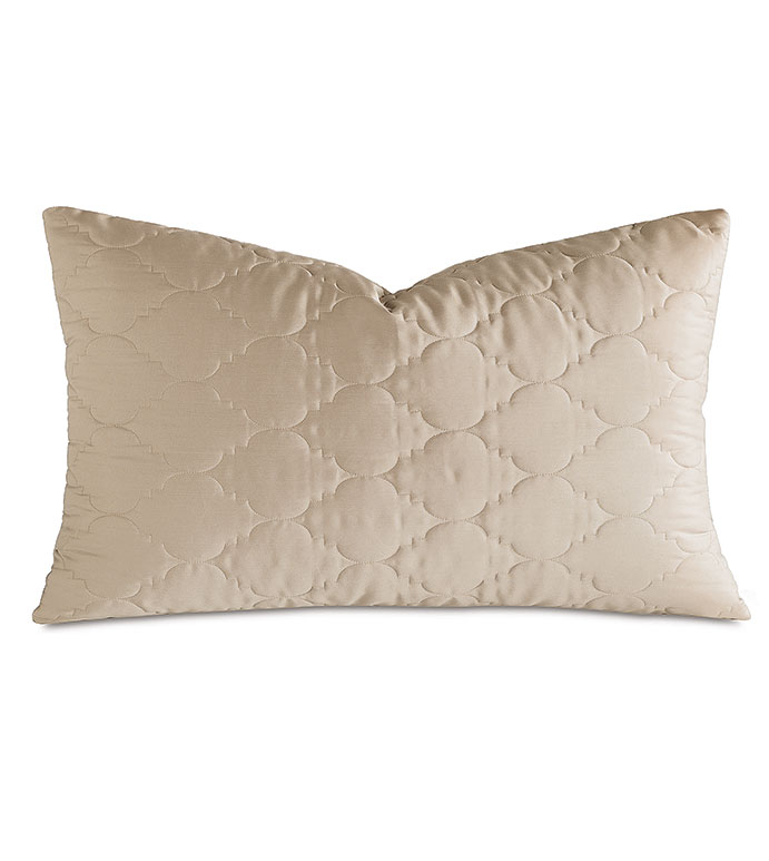 Viola Quilted King Sham in Sable - ,QUILTED KING SHAM,COTTON SATEEN KING SHAM,COTTON QUILTED KING SHAM,WASHABLE SATEEN KING SHAM,WASHABLE KING SHAM,WASHABLE CREAM KING SHAM,WASHABLE QUILTED BEDDING,