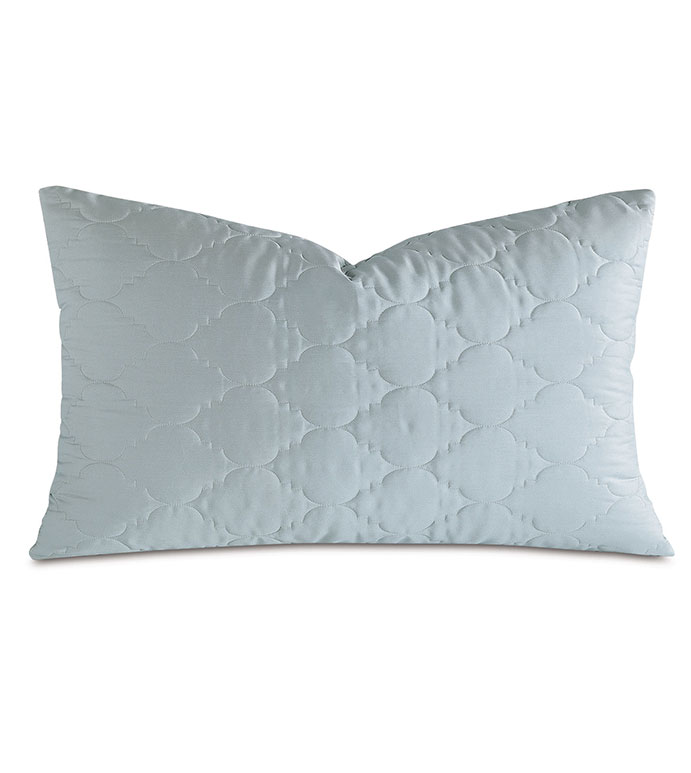 Viola Quilted King Sham in Sea - ,QUILTED KING SHAM,COTTON SATEEN KING SHAM,COTTON QUILTED KING SHAM,WASHABLE SATEEN KING SHAM,WASHABLE KING SHAM,WASHABLE CREAM KING SHAM,WASHABLE QUILTED BEDDING,
