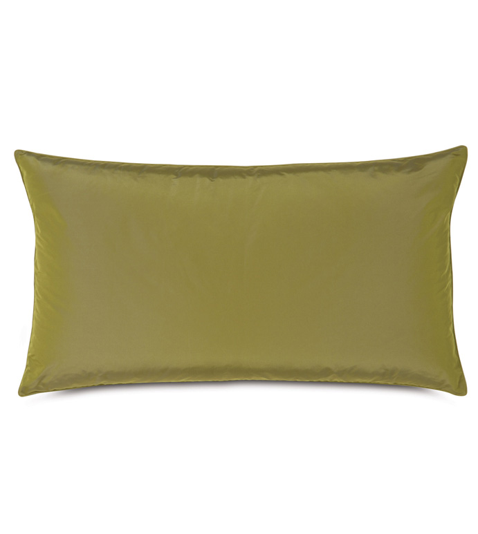 Freda Taffeta King Sham in Chartreuse - CHARTREUSE,CITRON,GREEN,OLIVE,TAFFETA,SILKY,SHINY,21X37,RECTANGULAR,PILLOW,DECORATIVE PILLOW,ACCENT PILLOW,KING SHAM,TRADITIONAL,BEDDING,HOME DECOR,ACCESSORIES,MADE IN USA