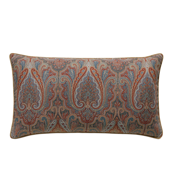 Rudy Paisley King Sham - ACCENT PILLOW,THROW PILLOW,KING SHAM,EASTERN ACCENTS,MULTICOLORED,TRADITIONAL,JACQUARD,PAISLEY,CORD,