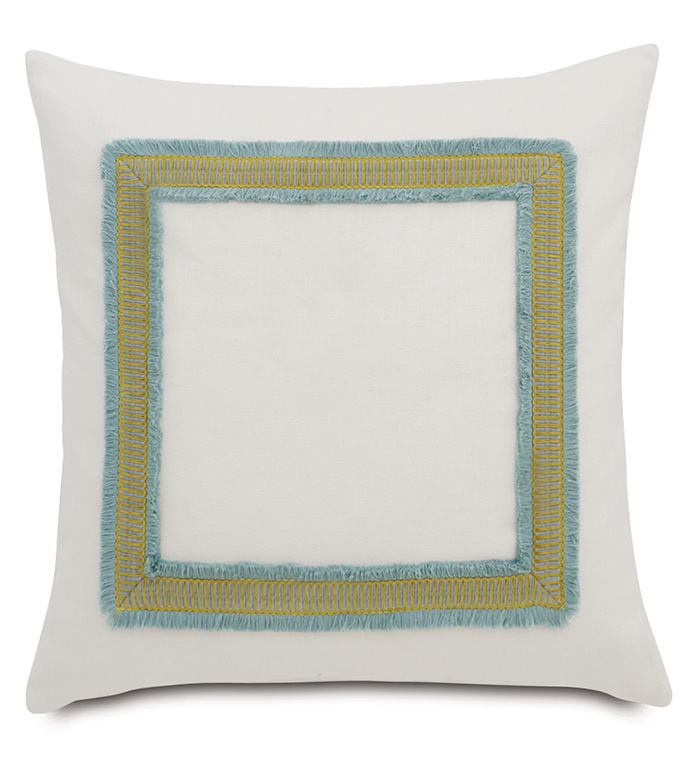 Filly White With Mitered Trim - ,