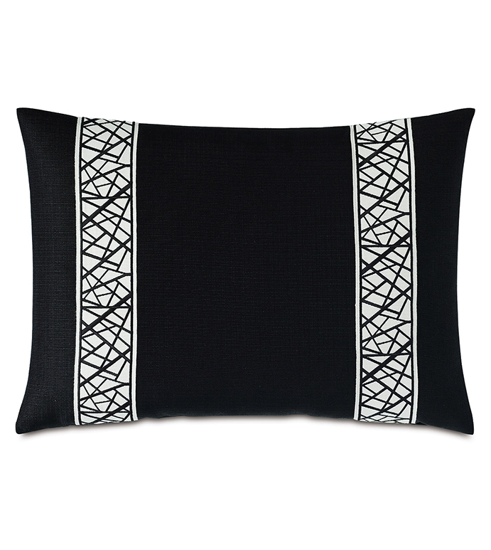 Maddox Abstract Border Decorative Pillow