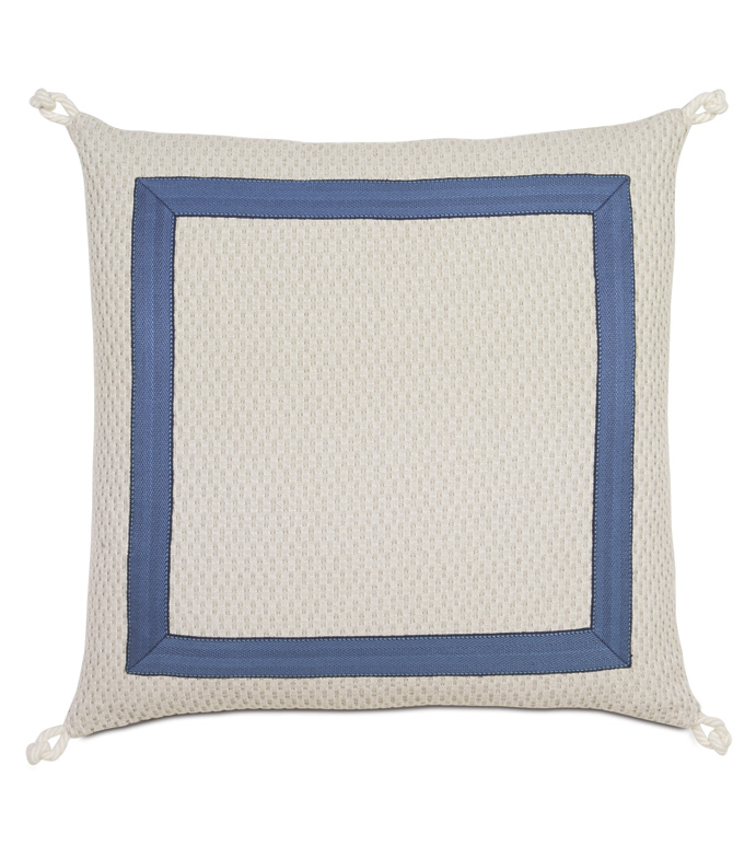 Maritime Nautical Euro Sham In Ivory - ACCENT PILLOW,THROW PILLOW,EURO SHAM,EASTERN ACCENTS,IVORY,COTTON,TEXTURED,BORDER, ,