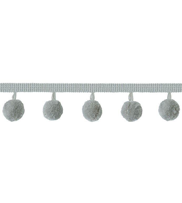 Ball Trim Liesl - ,ball trim,gray trim,gray ball trim,trim by the yard,grey trim by the yard,ball tirm by the yard,
