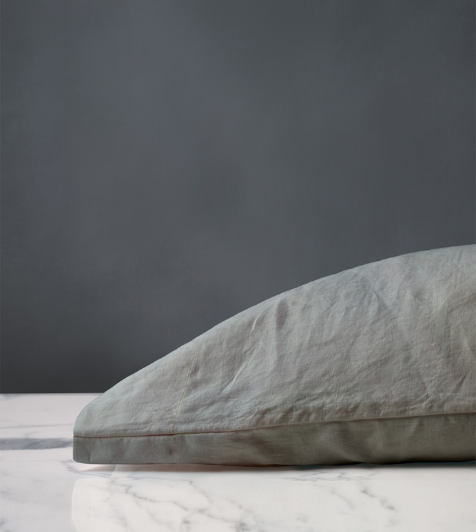 Shiloh Linen Pillowcase in Cement - ,LINEN PILLOWCASE,ITALIAN LINEN PILLOWCASE,STONE WASHED LINEN PILLOWCASE,GRAY LINEN PILLOWCASE,GRAY PILLOWCASE,LINEN PILLOW,GRAY LINEN PILLOW,GRAY PILLOWCASES,GRAY FINE LINENS,