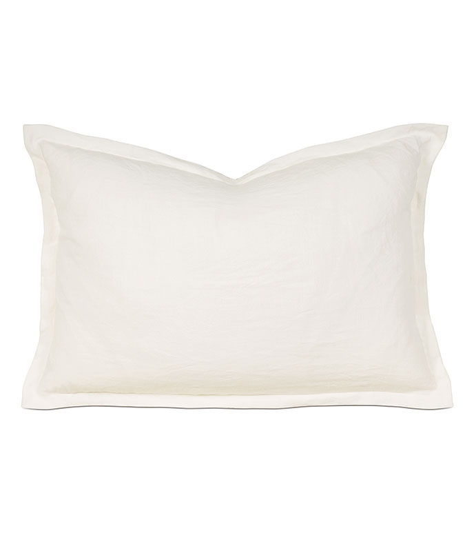 Shiloh Linen Queen Sham in Shell - ,STONE WASHED LINEN QUEEN SHAM,LINEN QUEEN SHAM,ITALIAN LINEN QUEEN SHAM,STONE WASHED LINEN,GRAY LINEN QUEEN SHAM,GRAY QUEEN SHAM,LINEN BEDDING,GRAY LINEN BEDDING,