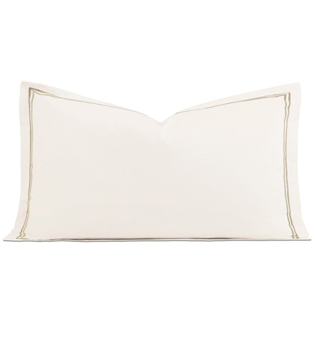 Enzo Ivory/Sable Queen Sham - ,