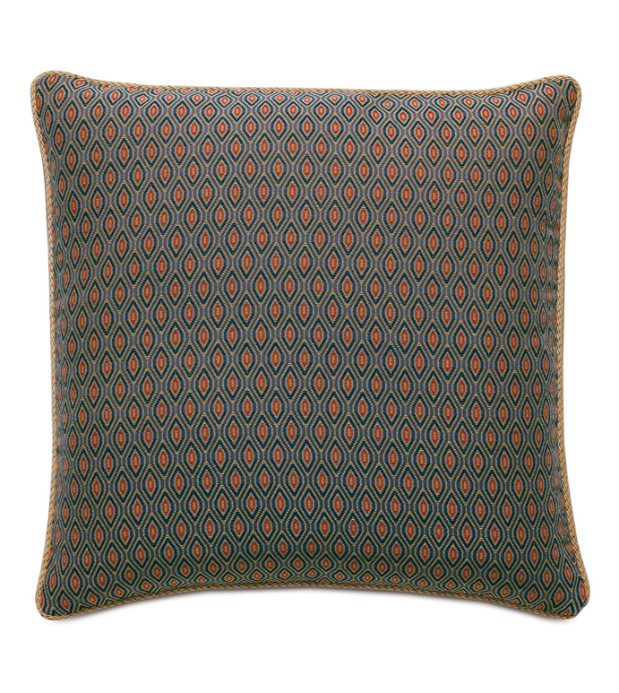 Rudy Ogee Accent Pillow - ACCENT PILLOW,THROW PILLOW,ACCENT PILLOW,EASTERN ACCENTS,MULTICOLORED,TRADITIONAL,WOVEN,OGEE,CORD,