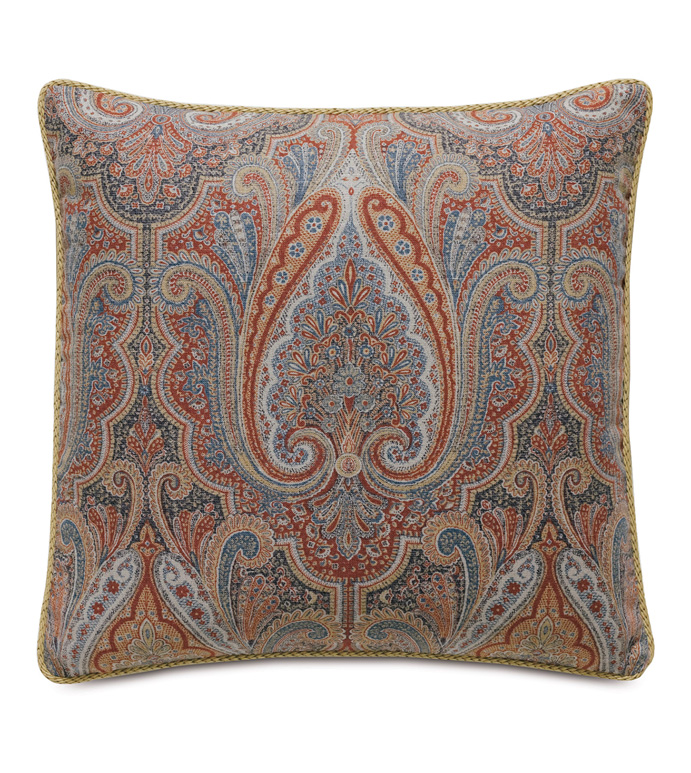 Rudy Paisley Accent Pillow - ACCENT PILLOW,THROW PILLOW,ACCENT PILLOW,EASTERN ACCENTS,MULTICOLORED,TRADITIONAL,JACQUARD,PAISLEY,CORD,