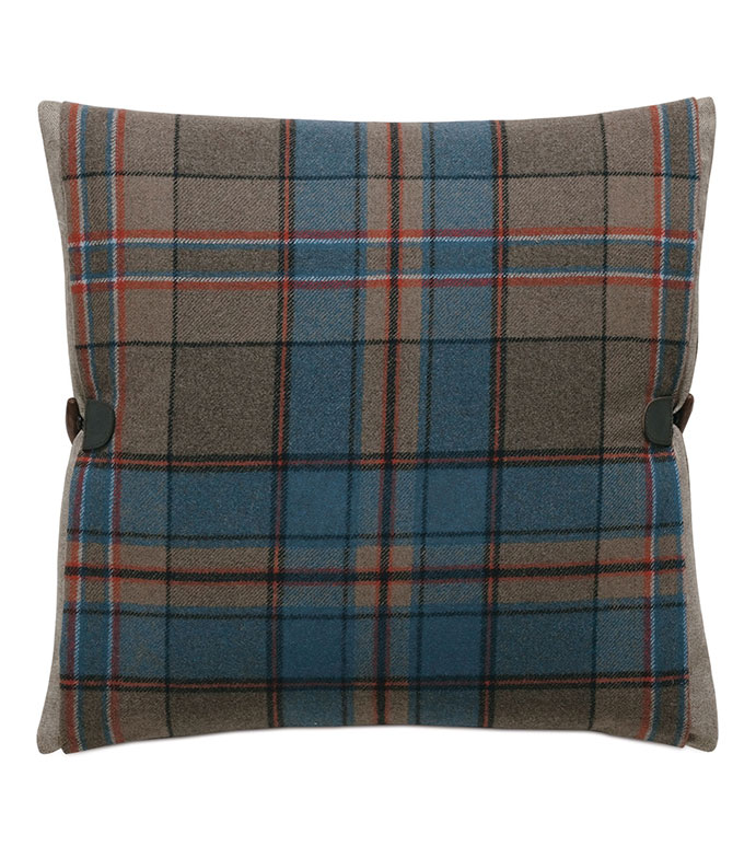Rudy Plaid Accent Pillow - ACCENT PILLOW,THROW PILLOW,ACCENT PILLOW,EASTERN ACCENTS,MULTICOLORED,LODGE,100% WOOL,PLAID,KNIFE EDGE FINISHING,