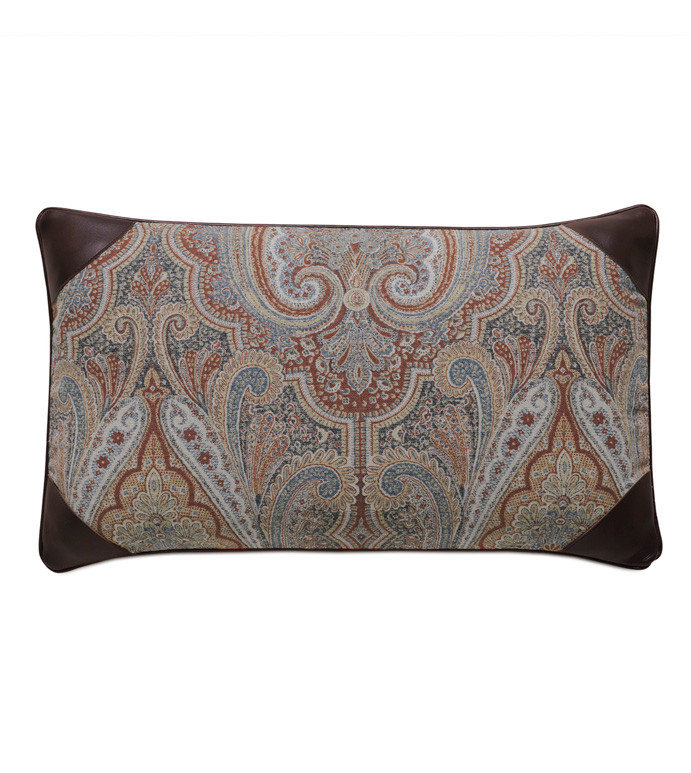 Rudy Paisley Accent Pillow - ACCENT PILLOW,THROW PILLOW,ACCENT PILLOW,EASTERN ACCENTS,MULTICOLORED,TRADITIONAL,JACQUARD,PAISLEY,WELT,