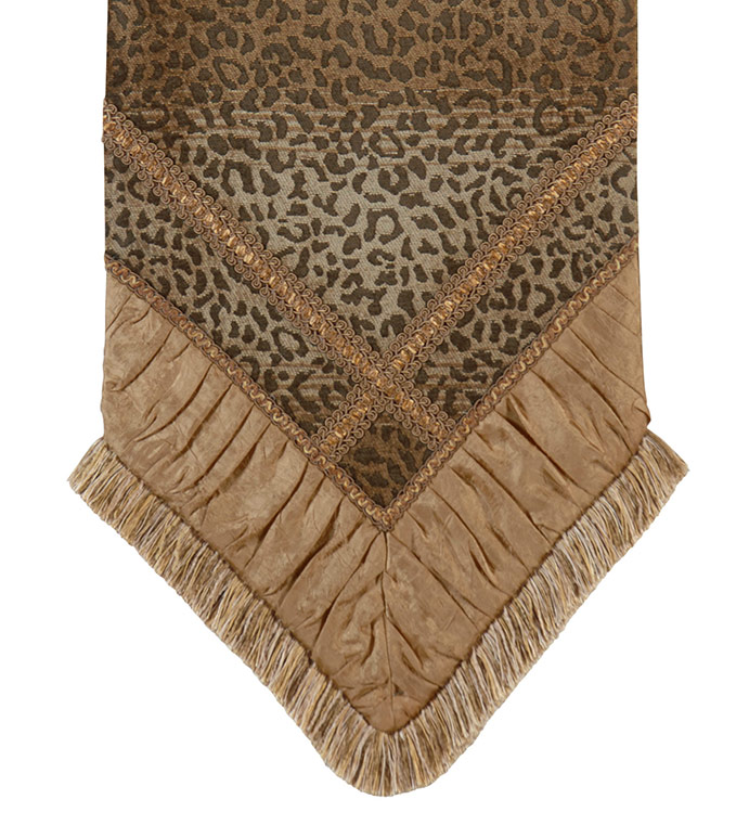 Congo Gold & Brown Runner - TABLE RUNNER, RUNNERS, TABLE TOP, TOPS,
