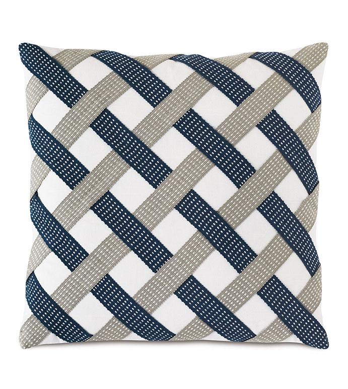 Saya Basketweave Decorative Pillow