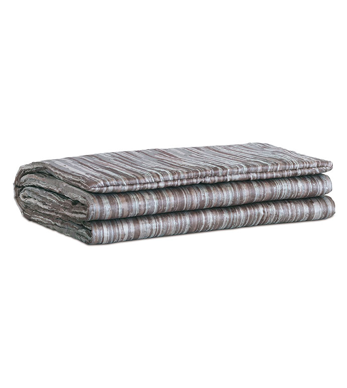 Horta Pewter Bed Scarf - ,