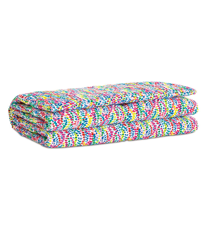 Gigi Speckled Bed Scarf - BED SCARF,BEDDING,CONFETTI,SPECKLED,POLKA DOT,TWIN,QUEEN,KING,KIDS,LUXURY,MADE IN USA,100% COTTON,MULTICOLORED,BRIGHT,COLORFUL