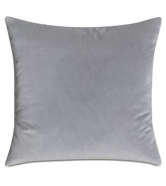 Safford Velvet Decorative Pillow - 22X22,SQUARE,DECORATIVE PILLOW,THROW PILLOW,ACCENT PILLOW,GRAY,NEUTRAL,BEDDING,LUXURY,VELVET