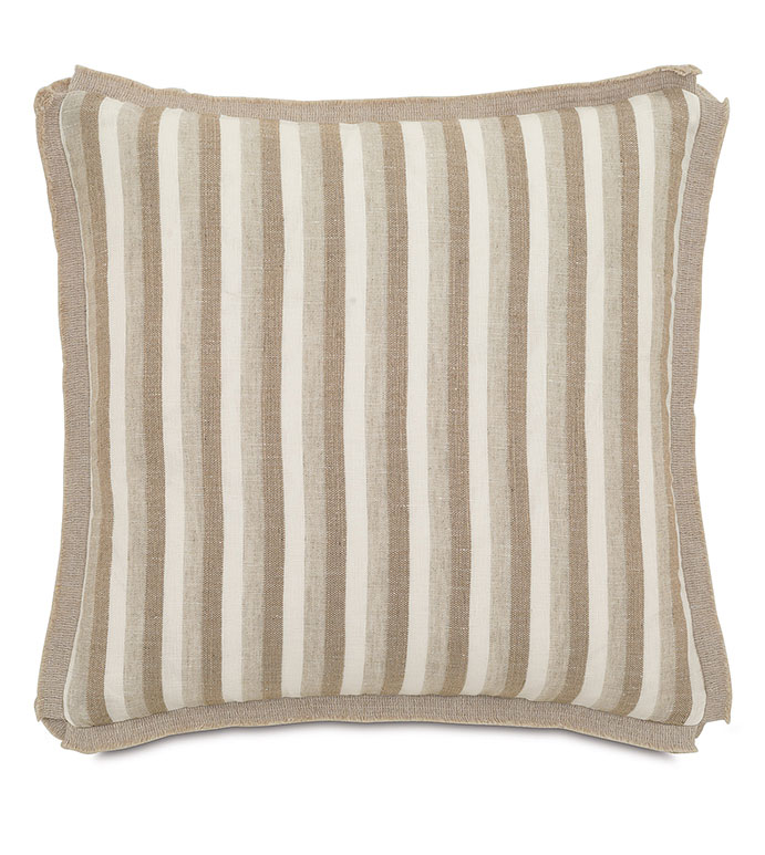 Linum Natural With Butterfly Pleats - ,
