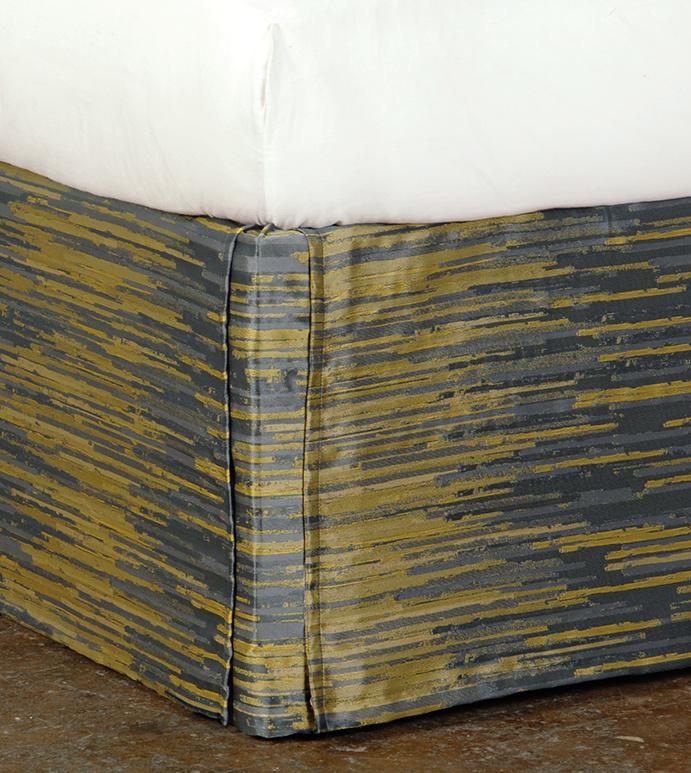Horta Olive Bed Skirt