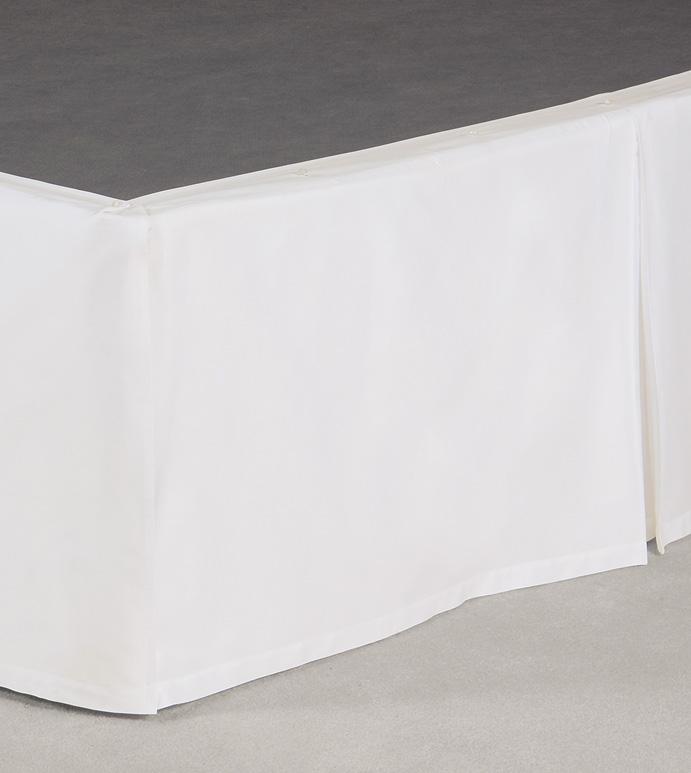Fresco Classic White Pleated Skirt Panels
