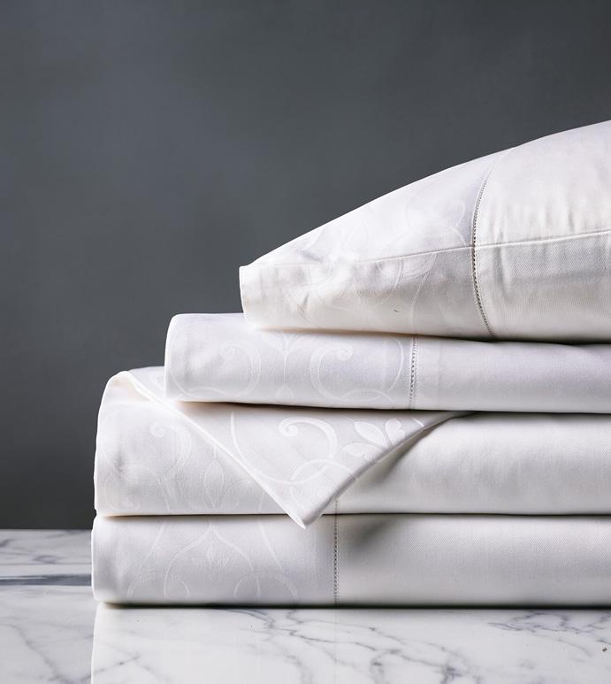 Ornato White Sheet Set