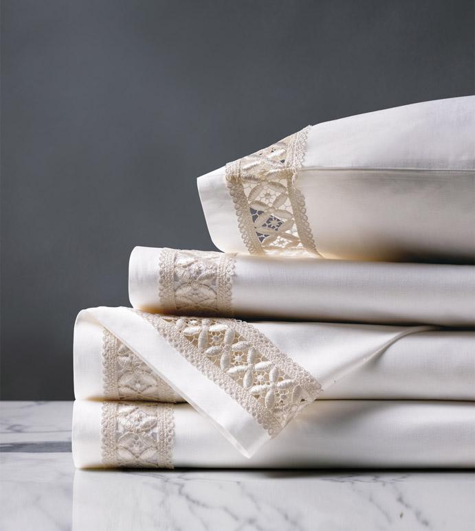 Juliet White/Ivory Sheet Set