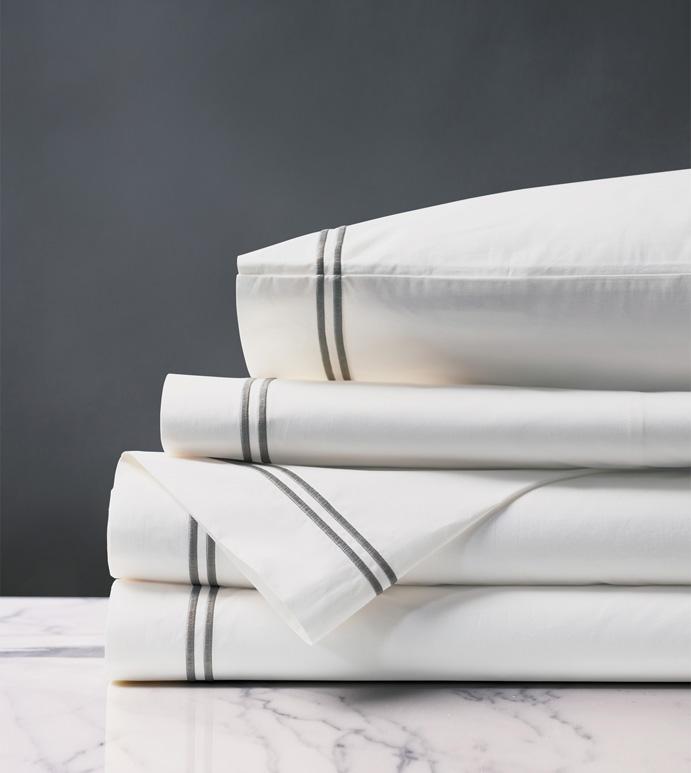Enzo White/Dove Sheet Set