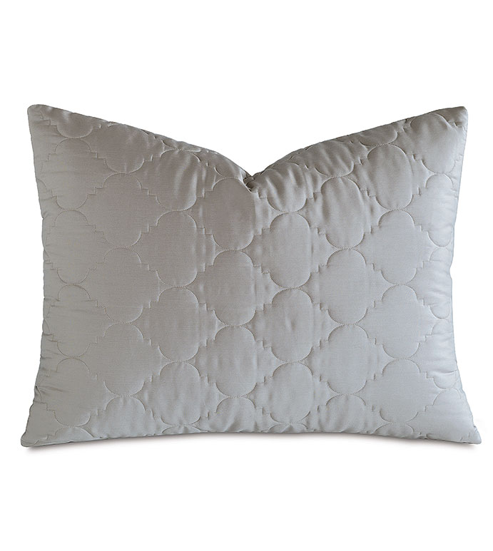 Viola Quilted Standard Sham in Dove - ,QUILTED STANDARD SHAM,COTTON SATEEN STANDARD SHAM,COTTON QUILTED STANDARD SHAM,WASHABLE SATEEN STANDARD SHAM,WASHABLE STANDARD SHAM,WASHABLE CREAM STANDARD SHAM,
