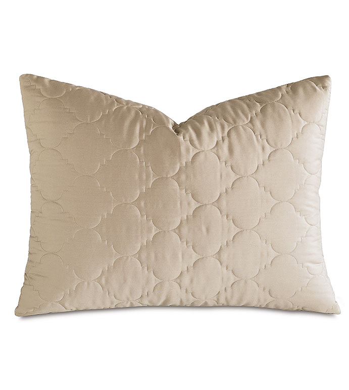 Viola Quilted Standard Sham in Sable - ,QUILTED STANDARD SHAM,COTTON SATEEN STANDARD SHAM,COTTON QUILTED STANDARD SHAM,WASHABLE SATEEN STANDARD SHAM,WASHABLE STANDARD SHAM,WASHABLE CREAM STANDARD SHAM,