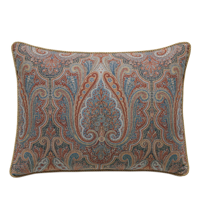Rudy Paisley Standard Sham - ACCENT PILLOW,THROW PILLOW,STANDARD SHAM,EASTERN ACCENTS,MULTICOLORED,TRADITIONAL,JACQUARD,PAISLEY,CORD,