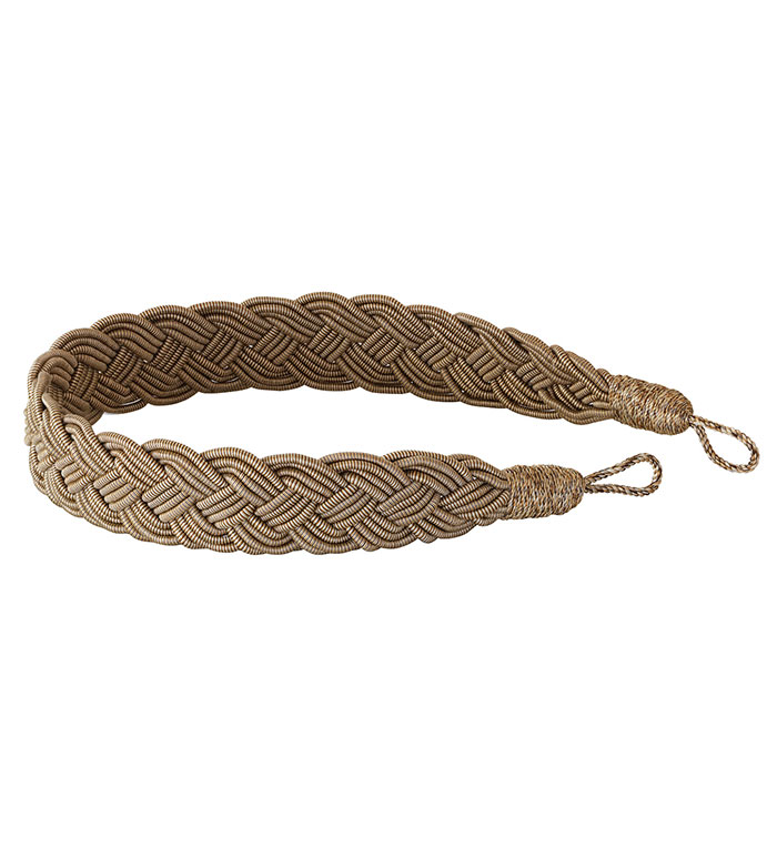 Quincy Fawn Rope Tieback