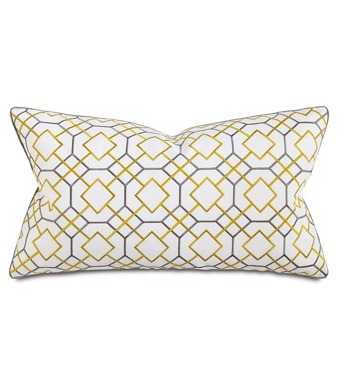 Thom Citron Boudoir - pillow,throw pillow,geo pillow,printed pillow,graphic pillow,decorative pillow,boudoir sham pillow,sham accent pillow,bolster pillow,feather pillow,zip closure pillow,